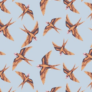 Swooping Swallows Copper on Grey // standard