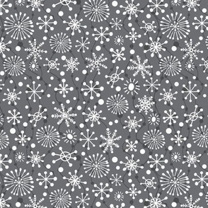 Festive Snowflakes-Grey