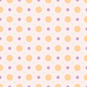 Pastel Spot Orange-Purple-Green