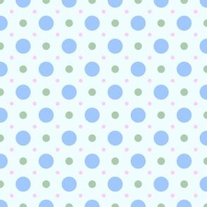 Pastel Spot Blue-Green-Pink