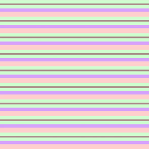 Pastel Stripe Purple-Pink-Green