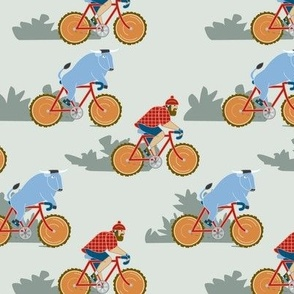 Paul Bunyan & Babe Biking