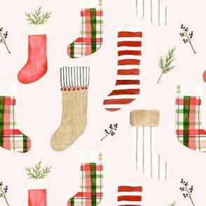 Christmas Stockings Pink