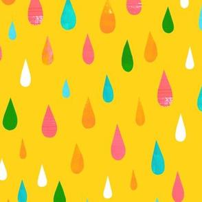 Rainbow Raindrops Yellow