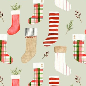Christmas Stockings Green
