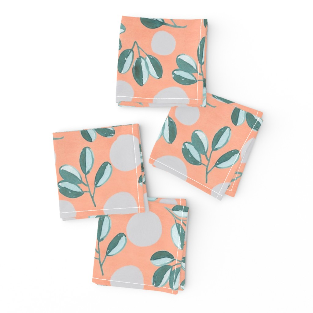 Frizzle Cocktail Napkins featuring Modern Magnolia (Pink) by joy&ink