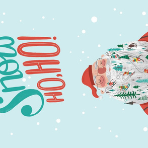 Snow Ho Ho Tea Towel