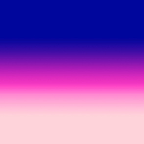 USA Style Blue to Pink Ombre
