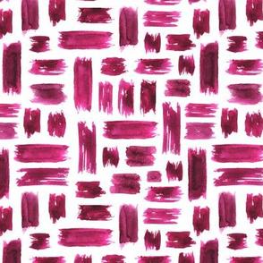 Criss cross burgundy brushstrokes