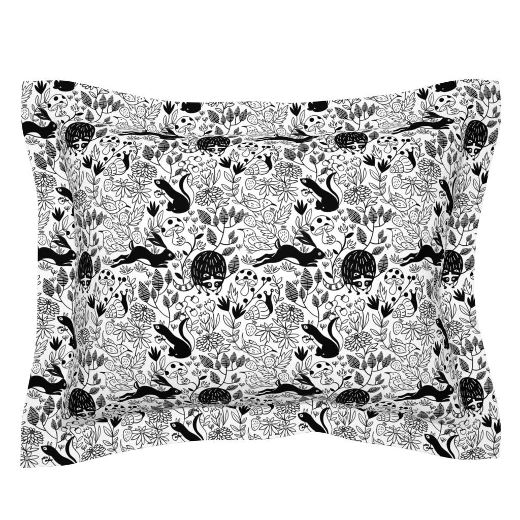 Sebright Pillow Sham featuring Garden Critters by susan_polston