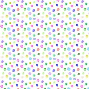 Watercolor confetti - tiny scale