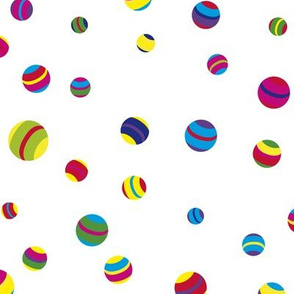 Circus balls tuttifrutti