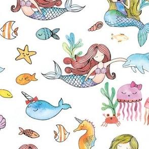 Mermaid Party White