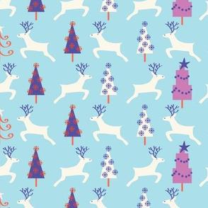 Holiday Reindeer, light_blue©Solvejg
