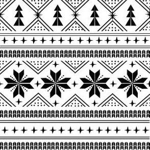 nordic christmas minimal sweater giftwrap holiday fabric white black