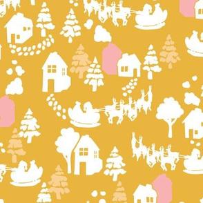 Santa's Sleigh in yellow