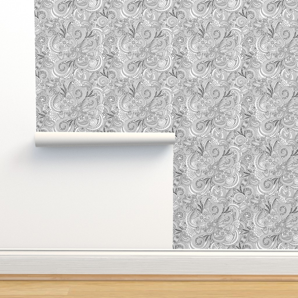 Isobar Durable Wallpaper featuring Two Birds Hiding by dearchickie