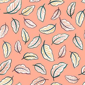 Leaf Toss (Blush Pink)