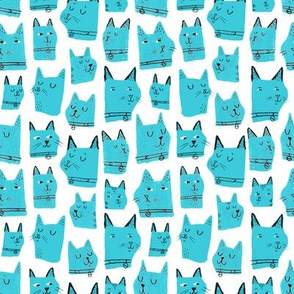 Painted Cats Blue