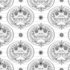 Canaries and Crickets Coloring Page