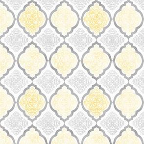 Intricate Quatrefoil (Yellow Colorway)