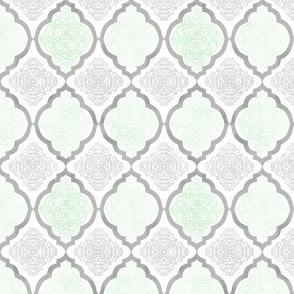 Intricate Quatrefoil (Mint Colorway)
