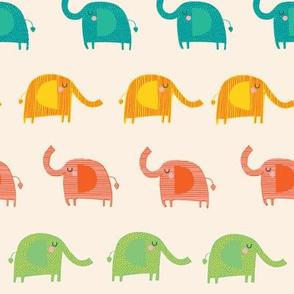 Sleepy Elephants