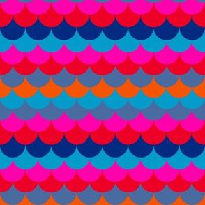 mermaid Scales in bright colors