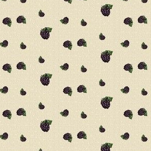 Blackberry Toss - Kraft Light Tan Dot - Small Scale