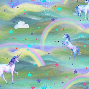 DREAMY UNICORN RAINBOW SAGE BLUE
