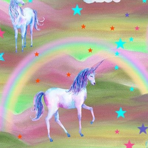 DREAMY UNICORN RAINBOW SWEETS CANDY sage green