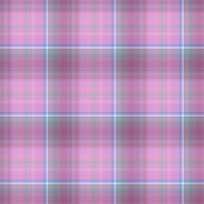 DREAMY UNICORN PLAID SPRING PINK BLUE SKY