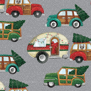 christmas cars and camper