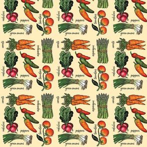 Veggies Block Print