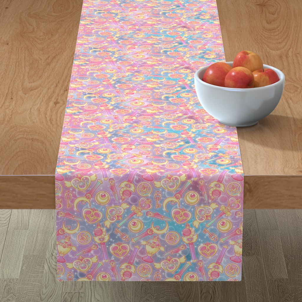 Minorca Table Runner featuring Pretty Guardian by nuk