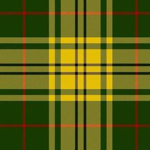 "Harmer tartan, 6"" yellow/green"
