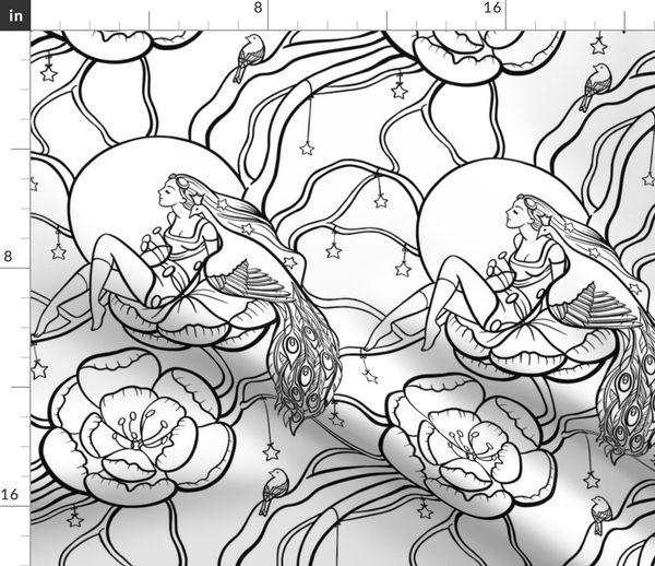- Botanical Fantasy (coloring Book) - Spoonflower