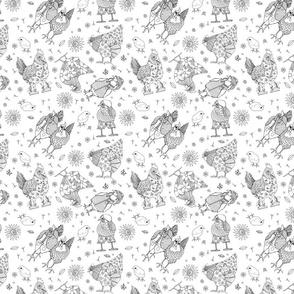 Whimsy Chicken  Pattern