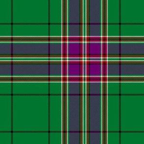 "MacFarlane hunting tartan, 6"", purple stripe"