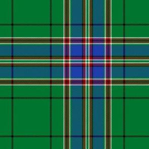 "MacFarlane hunting tartan, 6"", blue stripe"