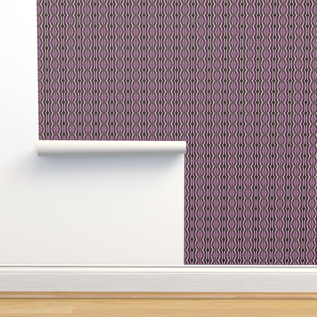 Isobar Durable Wallpaper featuring Zebra - black and purple by positive_space_unlimited