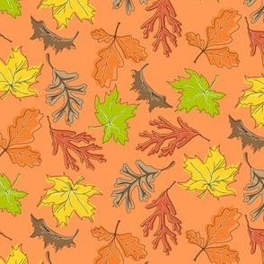 Fall Leaf Mini Toss Orange