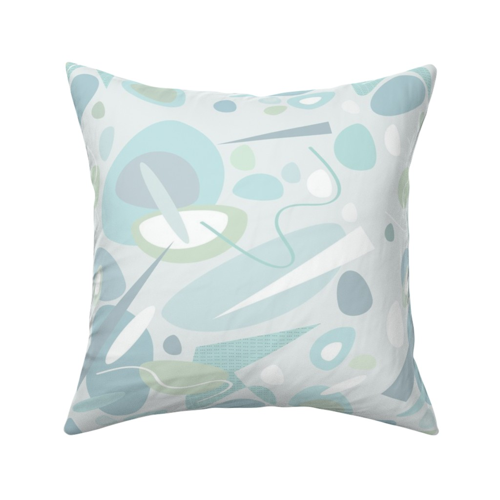 Catalan Throw Pillow featuring Ocean Sea Glass Stones Pale  by barbarapritchard