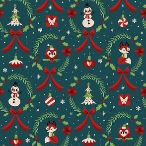 Christmas Wreaths (Blue)