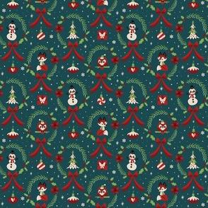 Small Christmas Wreaths (Blue)