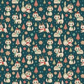 Small Gingerbread Kitties (Blue)