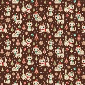 Small Gingerbread Kitties (Brown)