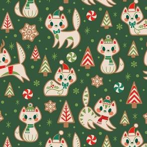 Gingerbread Kitties (Green)