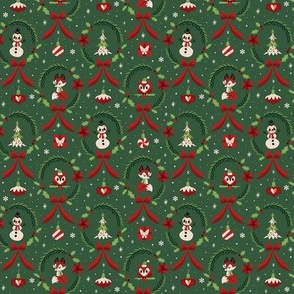 Small Christmas Wreaths (Green)