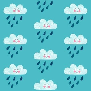 Happy Rain Blue